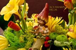 Acvamarin Decor Timisoara:Acvamarin Decor, Organizare Evenimente, aranjamente florale, accesorii si invitatii pentru nunti si botezuri