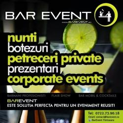 Bar Event Timisoara:Bar Event, Barmani pentru nunti si evenimente, servicii bar