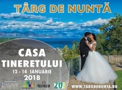 Targ de nunta: Planifica-ti nunta intr-o zi - 2018 Timisoara:Targ de nunta: Planifica-ti nunta intr-o zi - 2018, 12-14 ianuarie 2018 - Targ de nunti la Casa Tineretului Timisoara