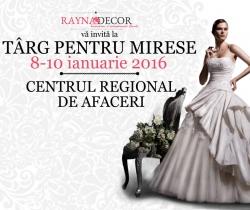 Targ de nunta: Targ pentru mirese - 2016 Timisoara:Targ de nunta: Targ pentru mirese - 2016, 8-10 ianuarie 2016 - Targ nunti CRAFT (Centrul Regional de Afaceri Timisoara)